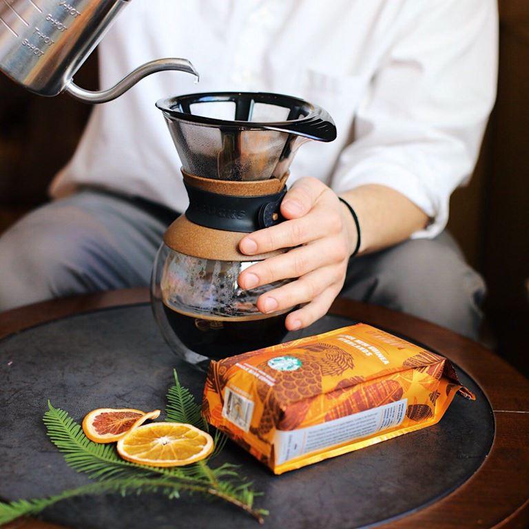 Starbucks - стеклянный пуровер для заваривания кофе