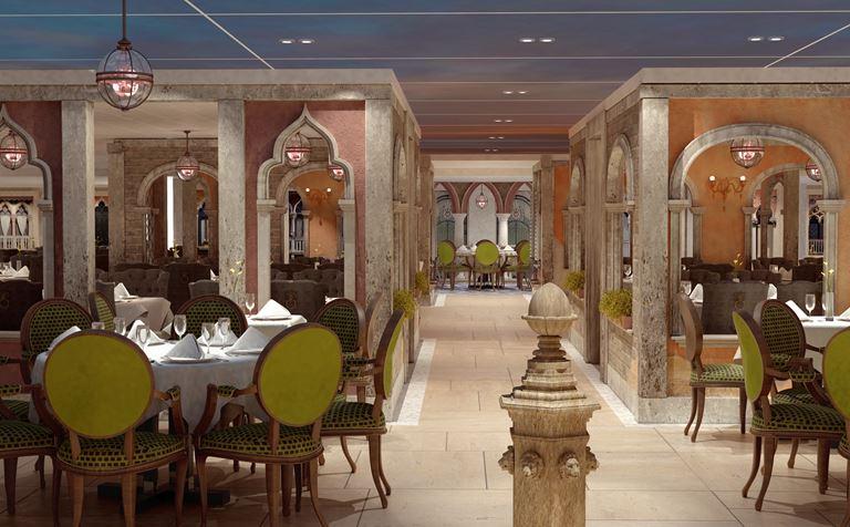 Лайнер Costa Venezia для китайского рынка - ресторан Марко Поло