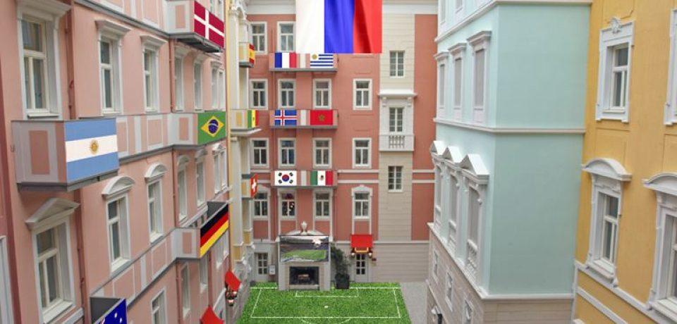 Кафе «Мезонин» в образе футбольной арены готов принимать гостей северной столицы