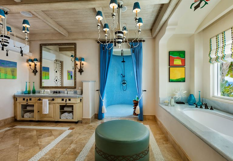 Курорт One&Only Palmilla в Лос-Кабосе, Мексика - интерьер ванной комнаты