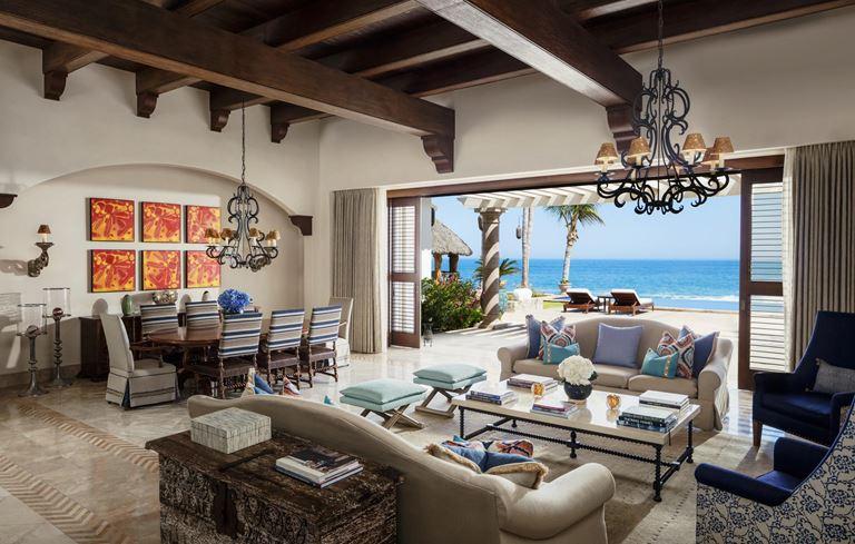 Курорт One&Only Palmilla в Лос-Кабосе, Мексика - интерьер с видом на океан