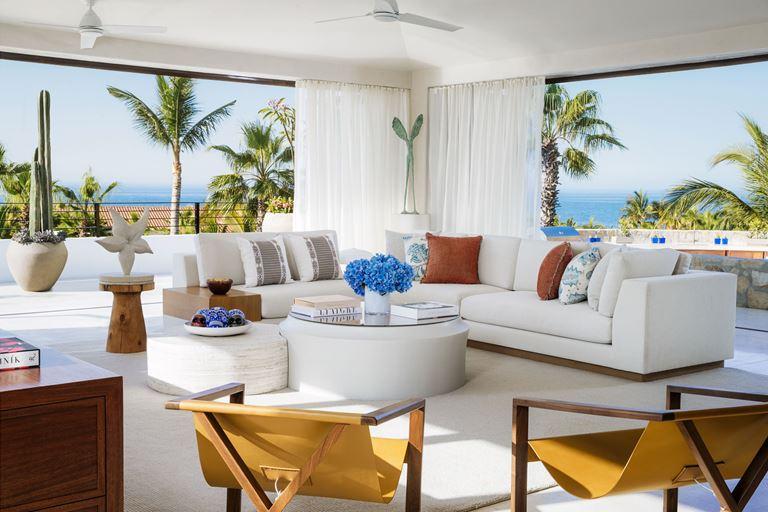Курорт One&Only Palmilla в Лос-Кабосе, Мексика - Villa One - интерьер в белых тонах