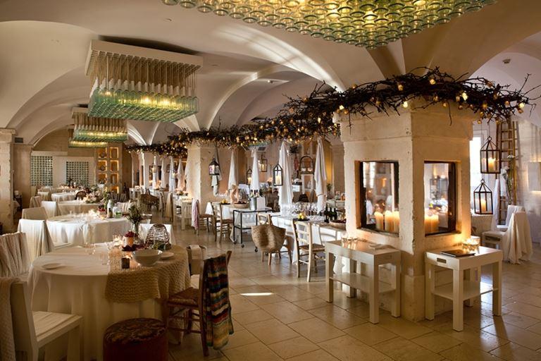 Гурмэ-ресторан Due Camini итальянского курорта Borgo Egnazia