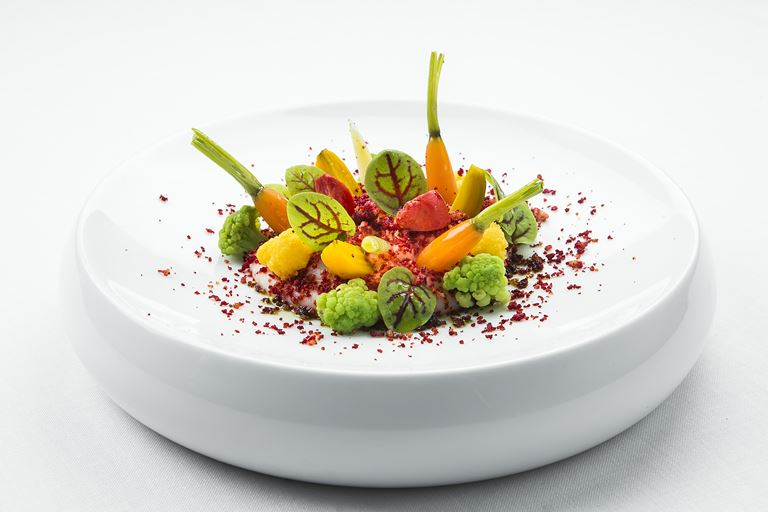 Ресторан SOLC отеля Majestic Hotel&Spa Barcelona - блюдо Nuestro Huerto