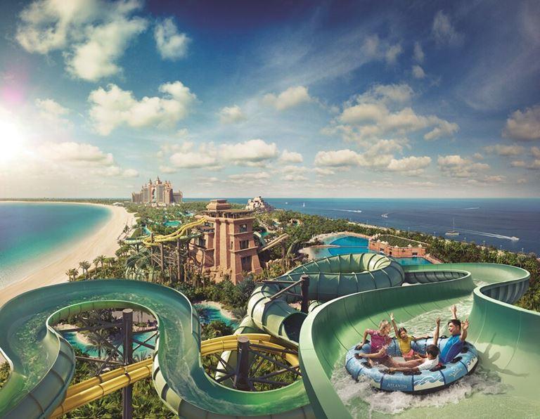 Лето-2018 в Дубае: водные горки в парке развлечений Aquaventure