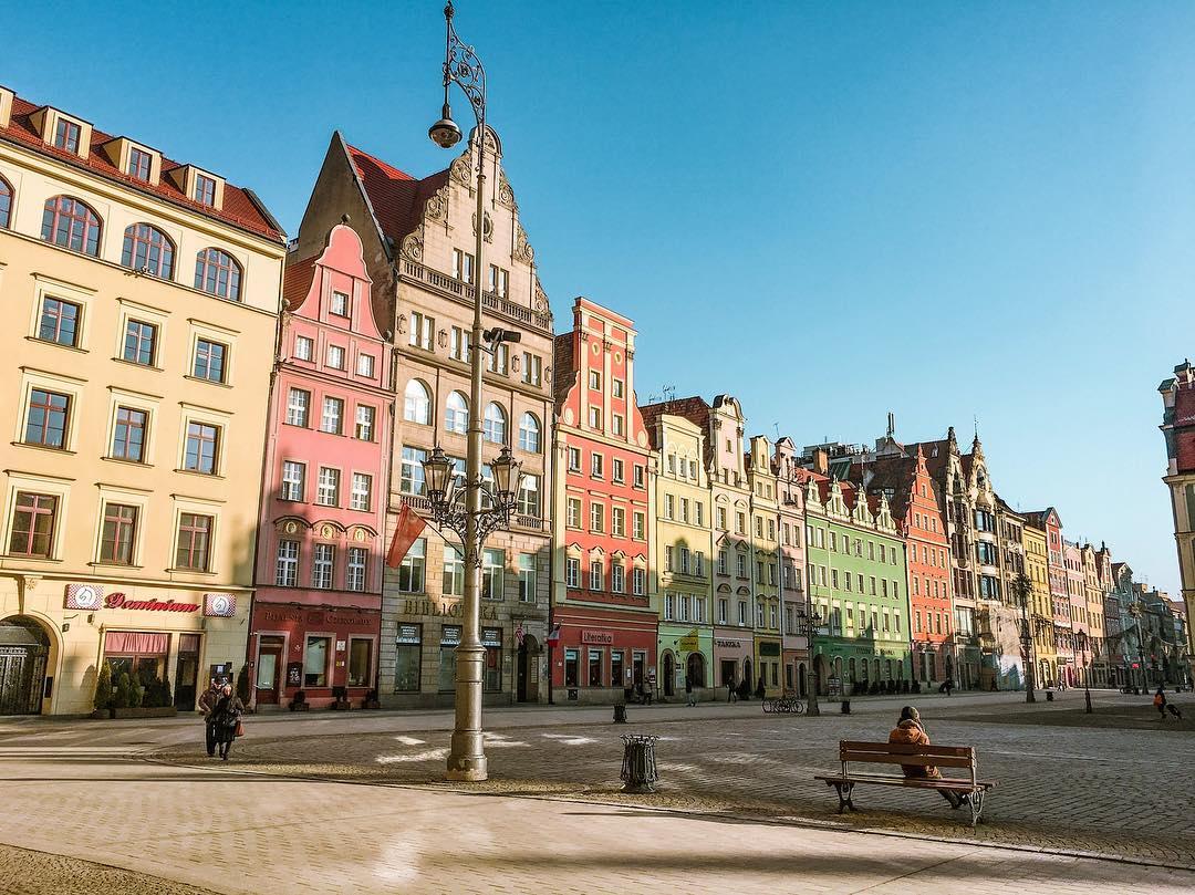 Города Европы с красивыми «пряничными» домиками - Вроцлав, Польша