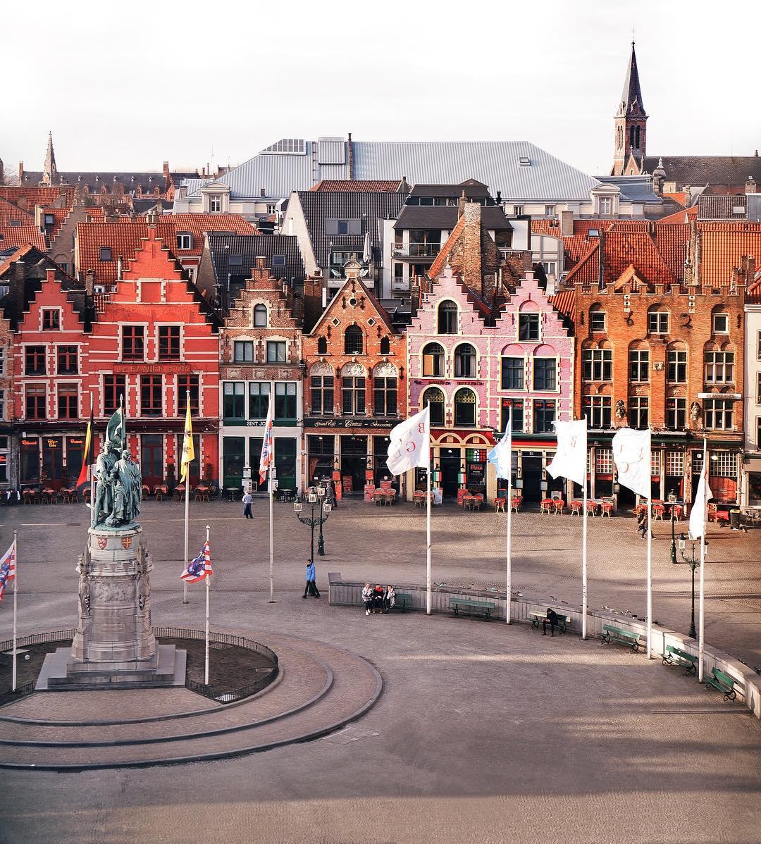 Города Европы с красивыми «пряничными» домиками - Брюгге (Бельгия)