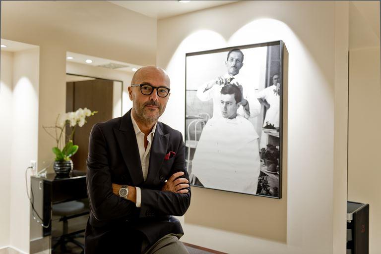 Открытие салона Rossano Ferretti Hair Spa в отеле La Réserve Genève - мастер Россано Ферретти