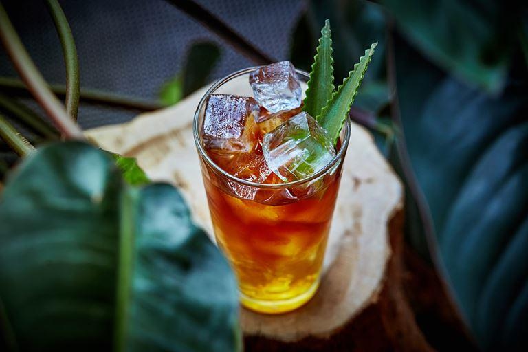 Сезонные напитки в московском ресторане Sixty - холодный кофе с мёдом и алоэ
