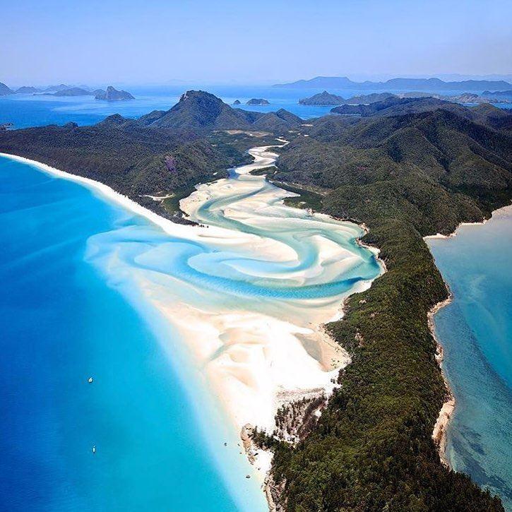 Цветные пляжи мира - Белый пляж Уайтхейвен Бич (Новый Южный Уэльс, Австралия)