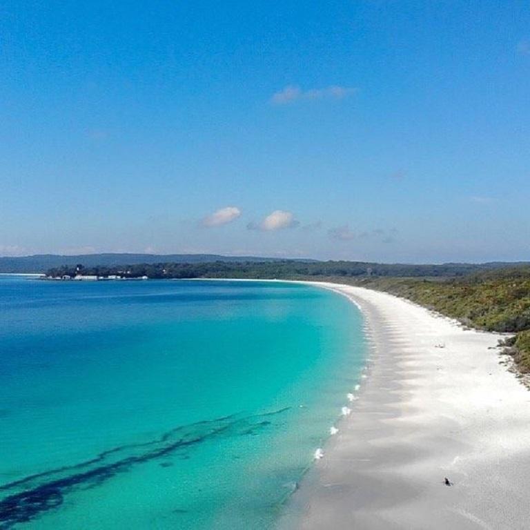 Цветные пляжи мира - Белоснежный пляж Хайэм (Австралия)
