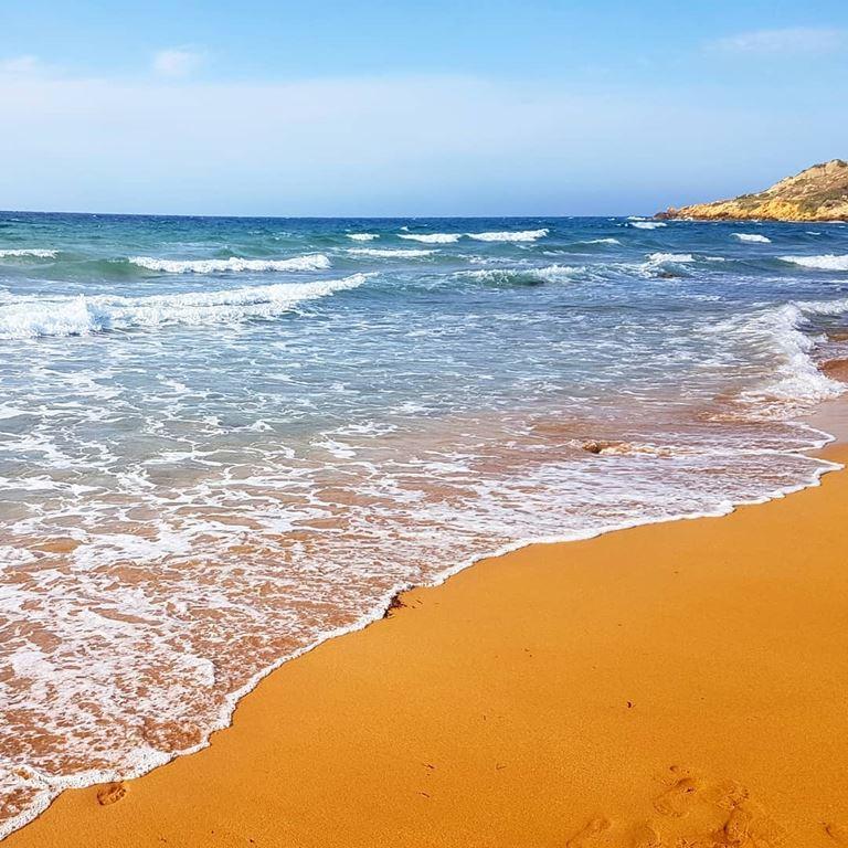 Цветные пляжи мира - Оранжевый пляж Рамла Бэй (Мальта)