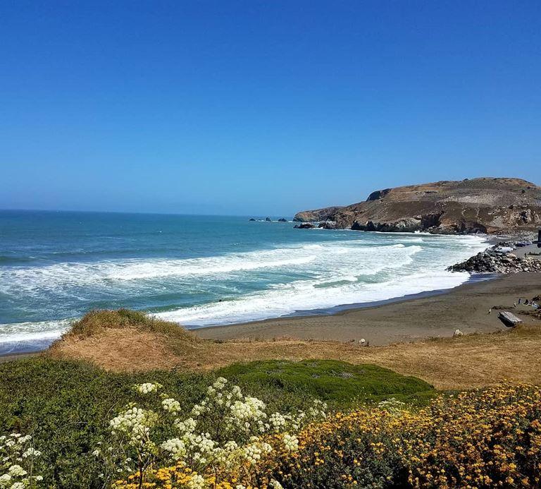 Цветные пляжи мира - Коричневый пляж Рокуэй Бич (США)