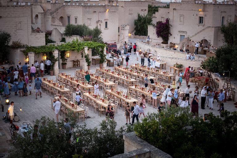 Фестиваль томатов в Borgo Egnazia, Апулия, Италия