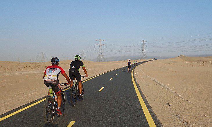 Дубайская арифметика: интересные факты о городе в цифрах - велосипедная трасса Al Qudra