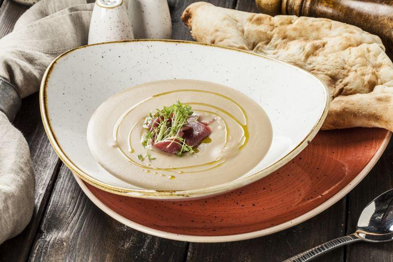 Ctзонное меню в грузинском ресторане «Кувшин» - крем-суп цабли