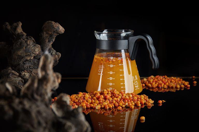 Горячие напитки и мёд в ресторане «На Мосфильмовской» - Морошка с васильком