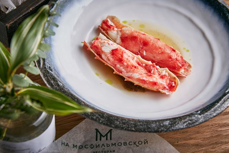 Русские сезоны в ресторане «На Мосфильмовской» - фаланги камчатского краба