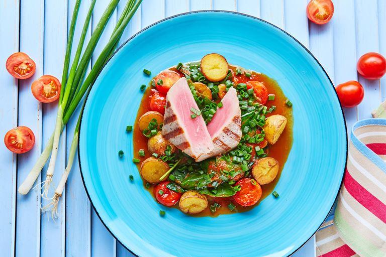 Польза по-итальянски: кафе «Руккола» за правильное питание - Стейк из тунца на гриле