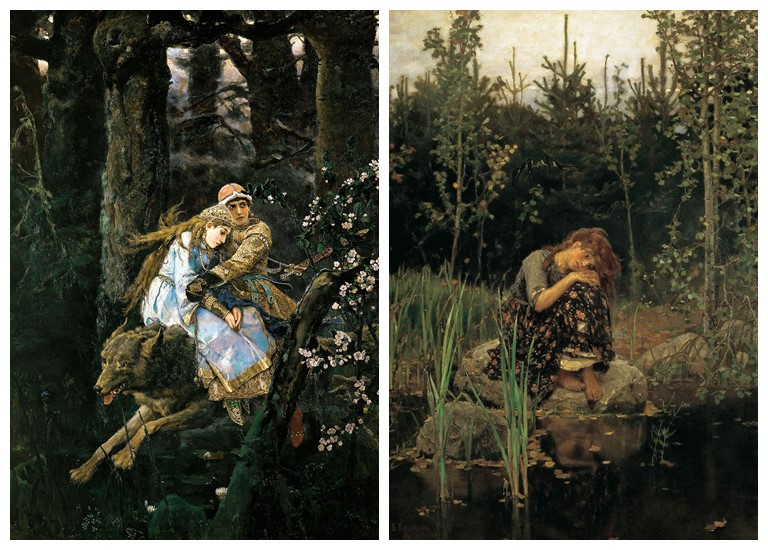Третьяковская галерея представляет выставку В.М. Васнецова - «Иван-царевич на Сером Волке» (1889) и «Алёнушка» (1881)