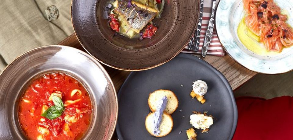 Сеты из четырех блюд за 1500 рублей в «Рыбторге»