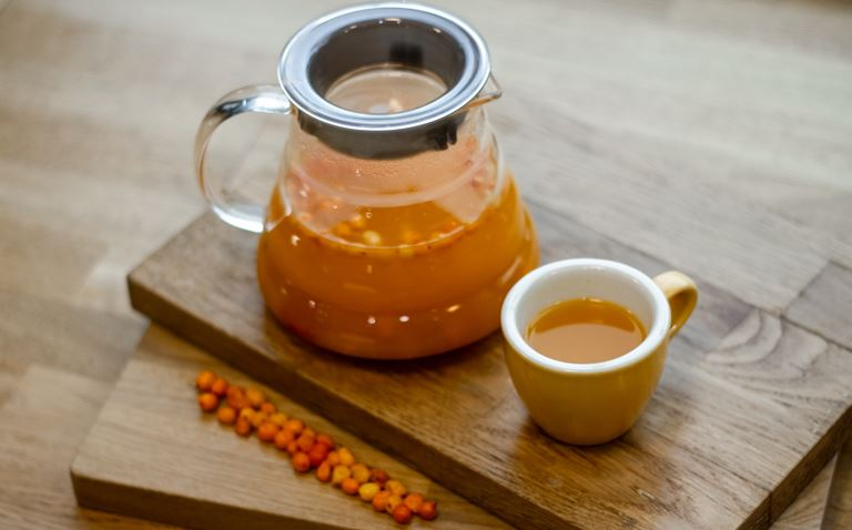 Облепиховый чай с имбирем и перцем чили