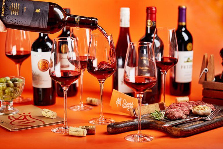 Винные флайты Steak it Easy - красные вина