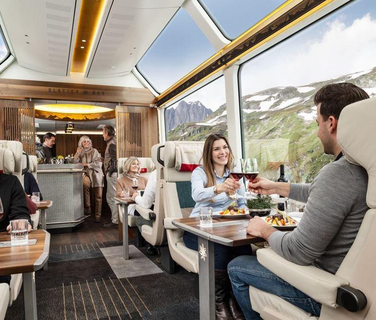 Путешествие по Швейцарским Альпам с ледниковым экспрессом Glacier Express