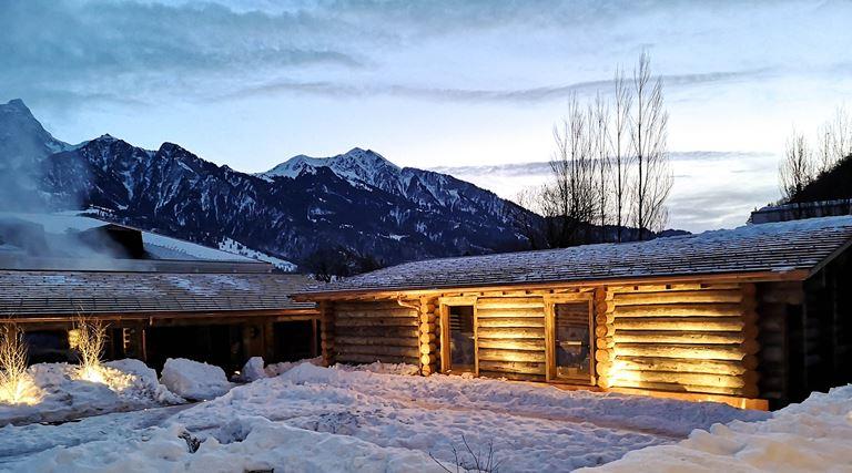 Ragaz Sauna Village с самой большой сауной в Швейцарии