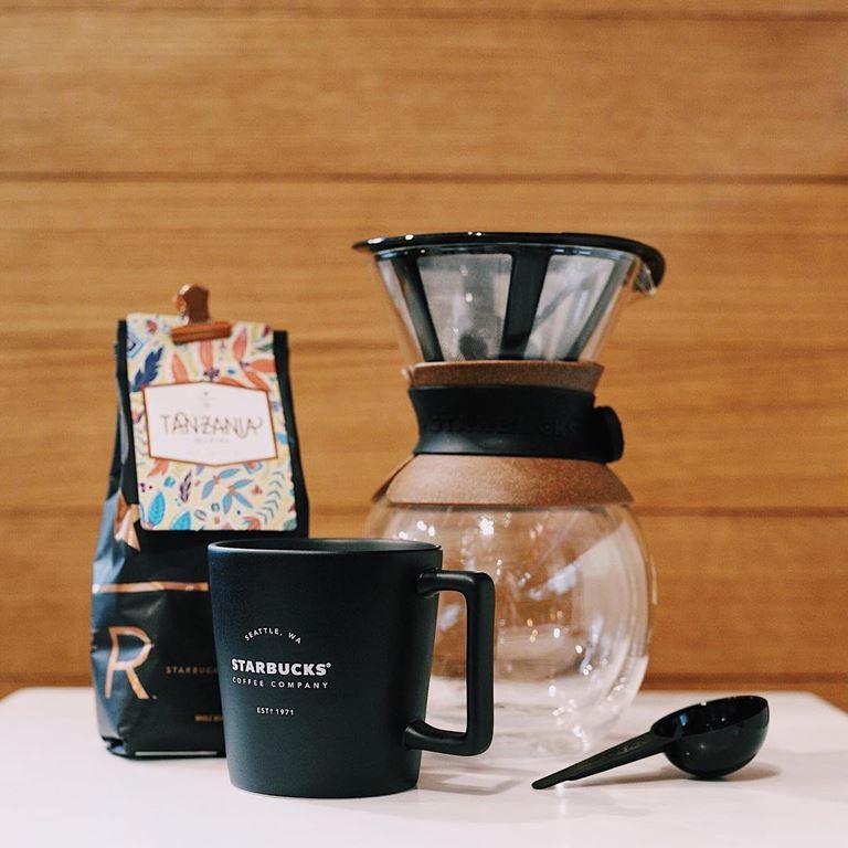 Стильные подарки от Starbucks на 23 февраля - кофе Starbucks Reserve и пуровер