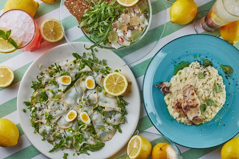 «Лимонная рапсодия» в итальянских в кафе «Руккола»