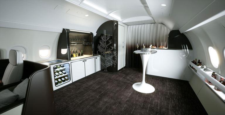 Four Seasons Private Jet – путешествие с комфортом и роскошью - интерьер салона