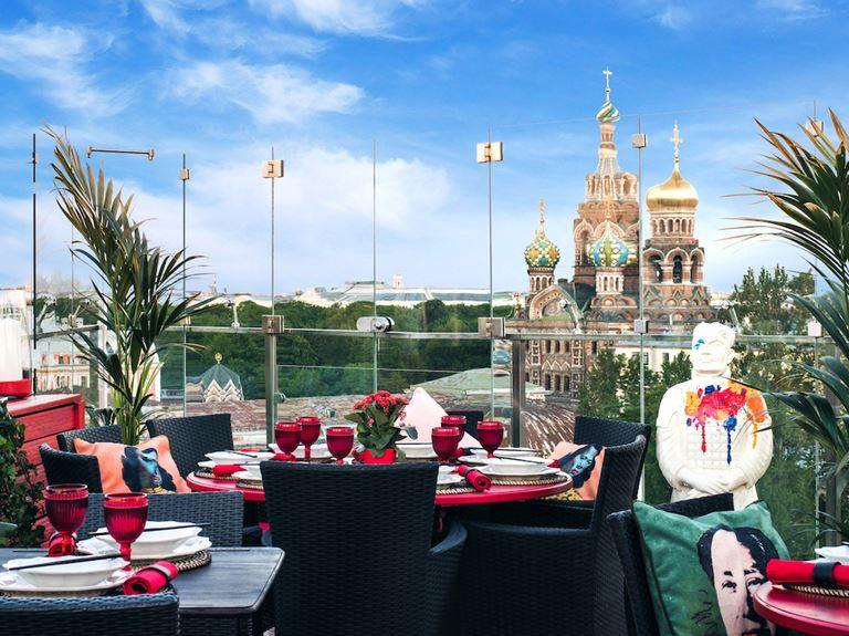 Панорамная терраса с видом на Санкт-Петербург в ресторане «Китайская грамота. Бар и Еда» - фото 1