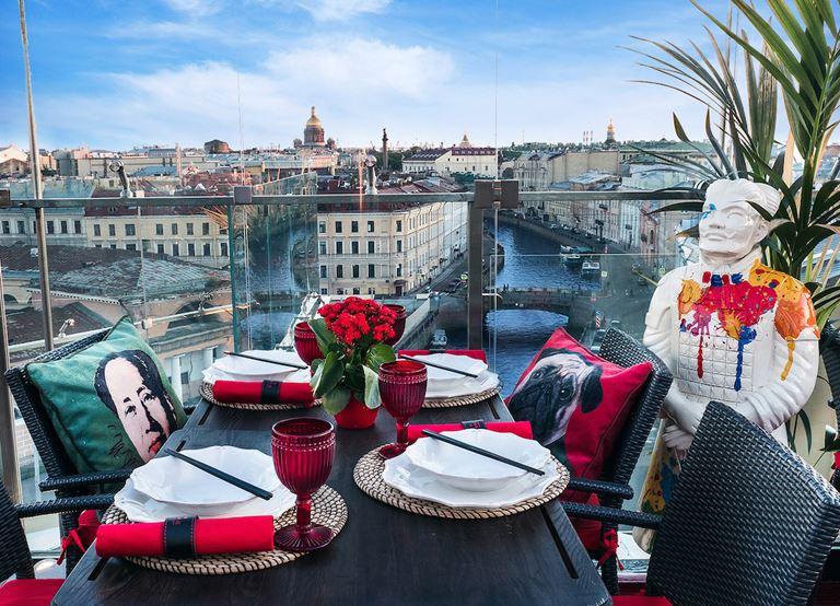 Панорамная терраса с видом на Санкт-Петербург в ресторане «Китайская грамота. Бар и Еда» - фото 2