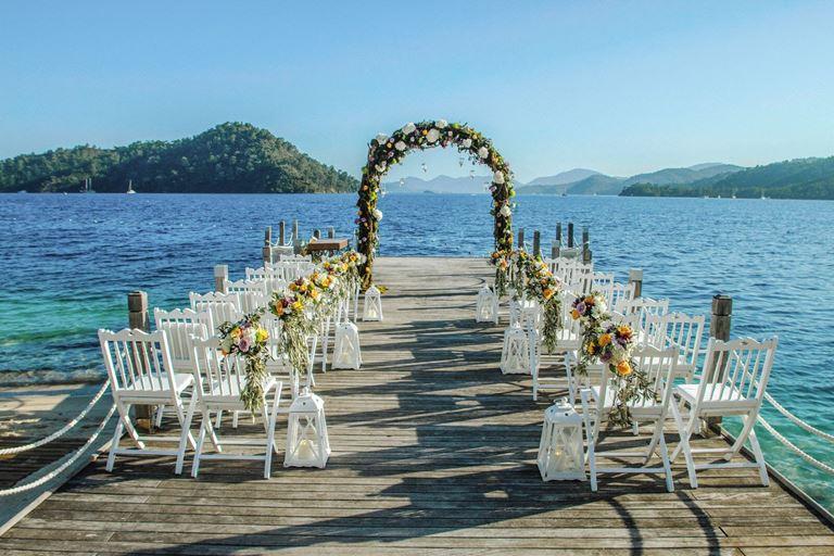 Свадьба в Турции на берегу Средиземного моря с D-Resort Göcek