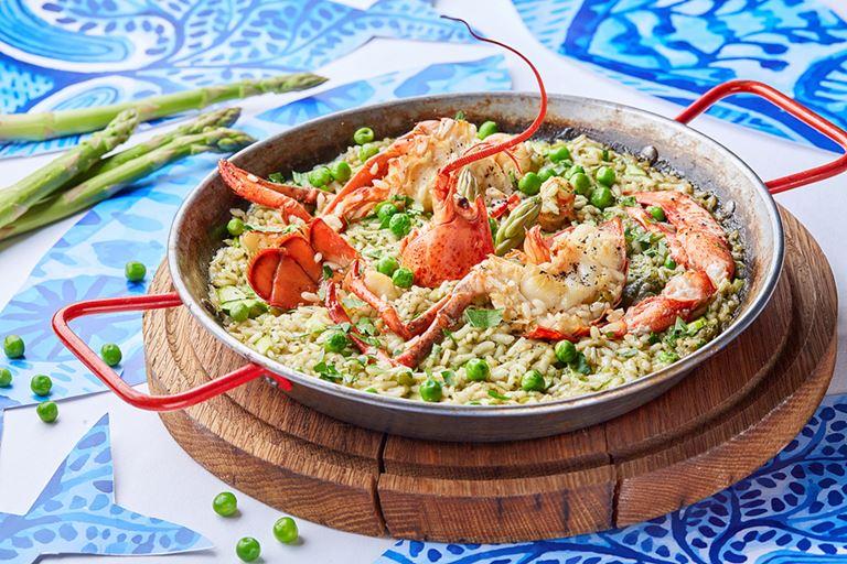 Паэлья зелёная от ресторана «Магадан» – рецепт