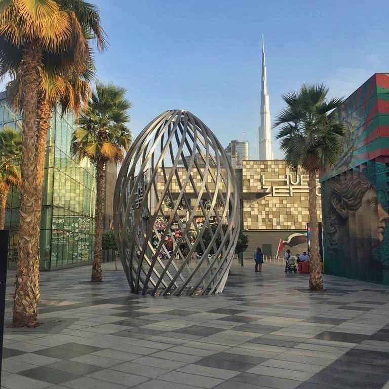 красивые места в Дубае для ярких и необычных фотографий - Квартал City Walk