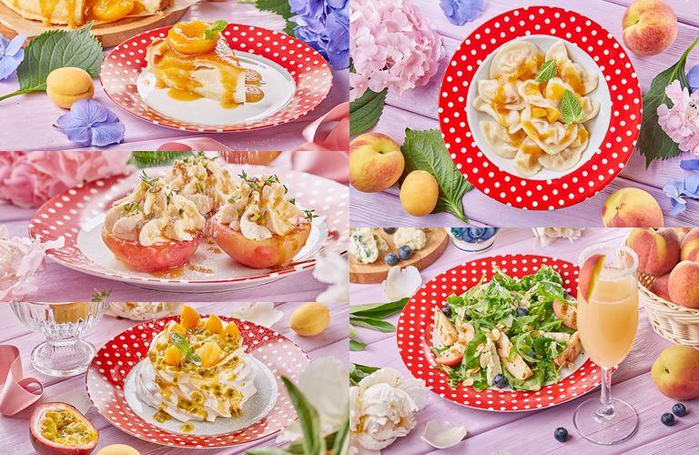 Персиково-абрикосовое меню в кафе «Вареничная №1» (Москва)