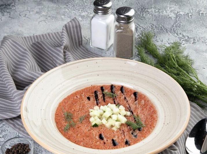 5 рецептов блюд с помидорами от ресторанов Москвы - Испанский суп гаспачо