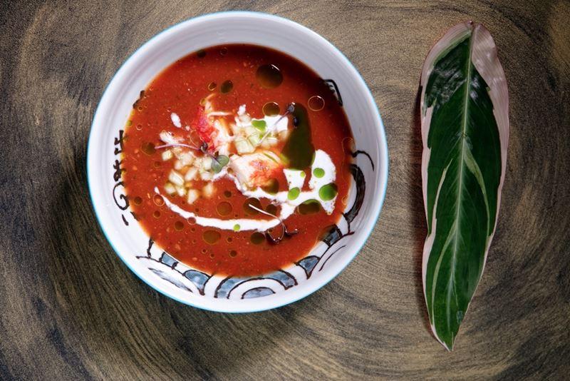5 рецептов блюд с помидорами от ресторанов Москвы - Сангрита с крабом