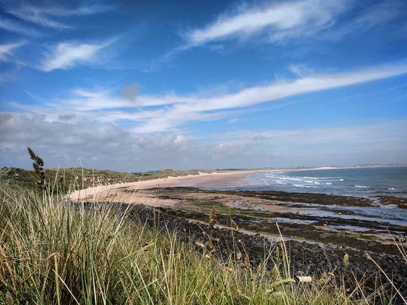 Топ-15 самых красивых пляжей Великобритании - Пляж Биднелл, Нортумберленд (Англия)