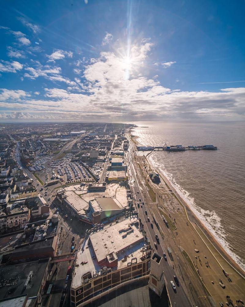 Топ-15 самых красивых пляжей Великобритании - Блэкпул Бич, Ланкашир (Англия)