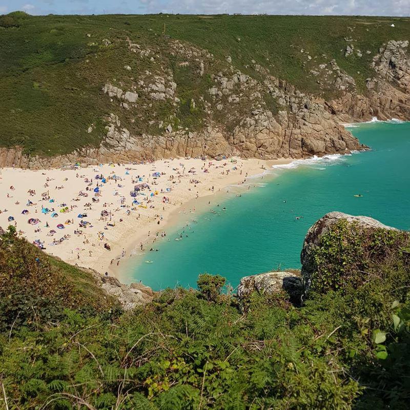 Топ-15 самых красивых пляжей Великобритании - Порткурно, Корнуолл (Англия)