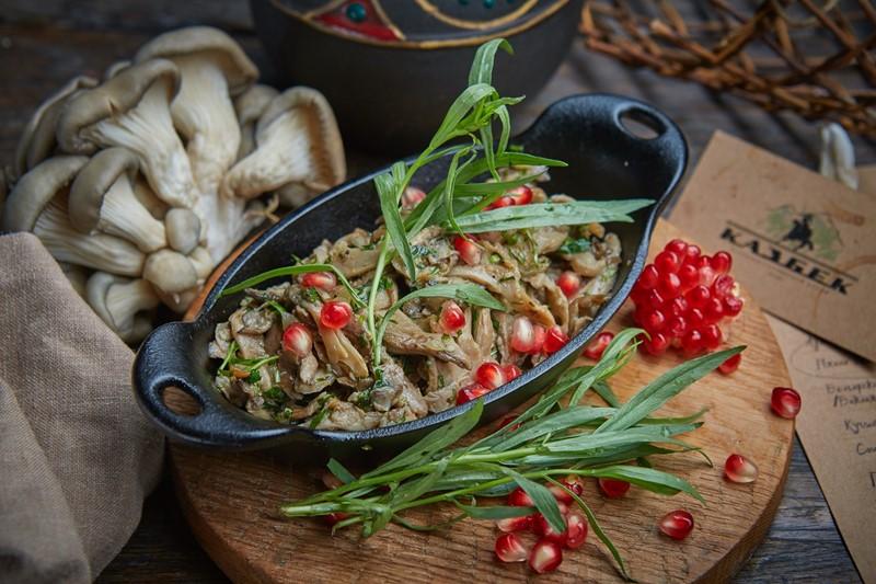 Рецепт чашушули из древесных грибов от ресторана грузинской кухни «Казбек»
