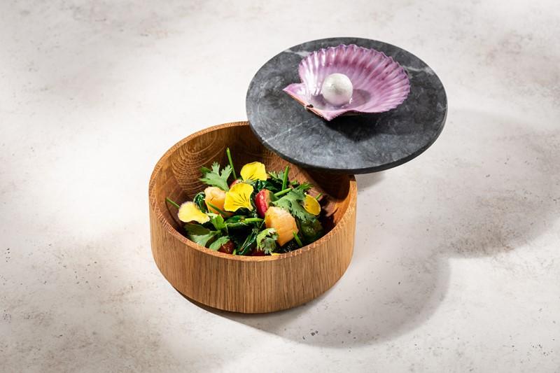 Рецепт салата «Жемчужина Катара» от ресторана «Турандот»
