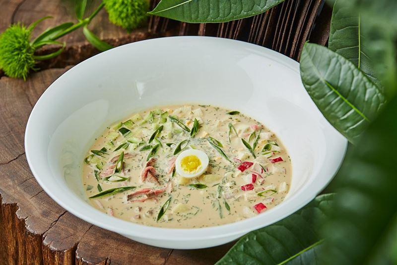 Рецепт летней окрошки на квасе от шеф-повара ресторана Sixty Сергея Кондакова