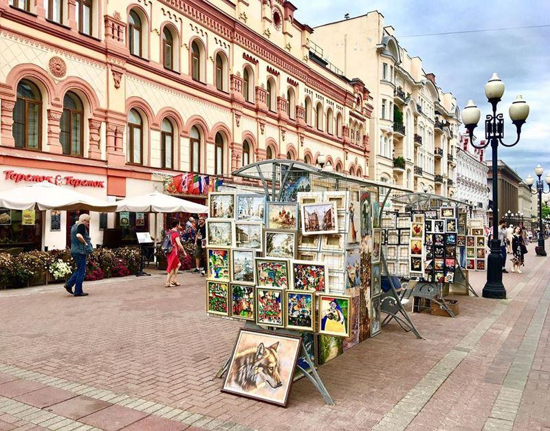 10 любимых мест китайских туристов в Москве - улица Старый Арбат
