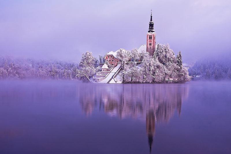 Зимний отдых в Словении - Озеро Блед