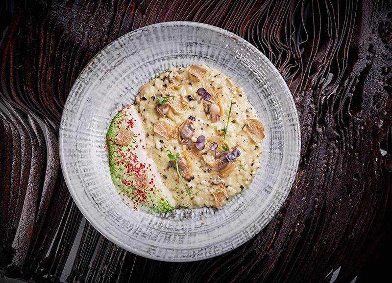 Ризотто с моллюсками вонголе и трюфельной заправкой - Шеф-повар Сергей Кондаков (ресторан Sixty)