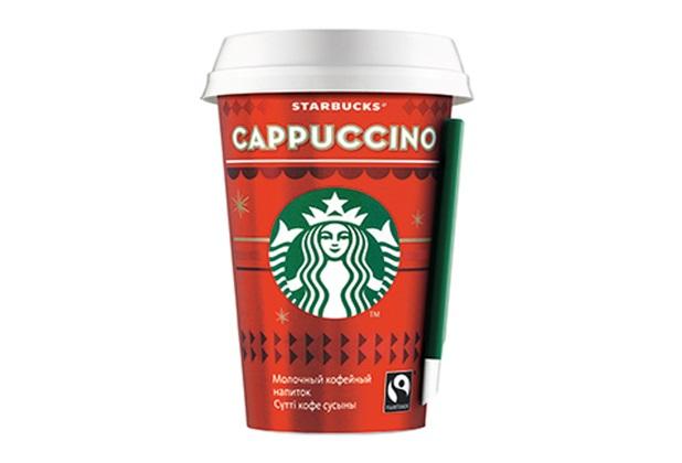 Лимитированная серия напитка Cappuccino в праздничной упаковке от Starbucks возвращается в Россию